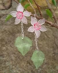 Daffodil <b>Earrings</b> Lucite <b>flower earrings</b> in by ArtifactsEtCetera ...