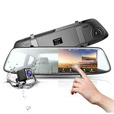 Mirror <b>Dash Cam 4.3 Inch</b> Touch Screen, TOGUARD 1080P ...