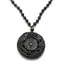 Shop <b>Fashion</b> Natural <b>Obsidian</b> Carved Chinese Dragon Phoenix ...