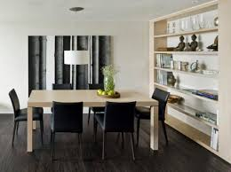 room simple dining sets:  dining room simple dining room ideas simple modern dining room design with bookshelves and square dining