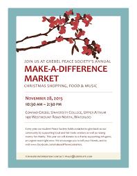 make a difference market conrad grebel university college