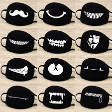Cotton <b>Dust Mask Cartoon</b> Expression Teeth Muffle Chanyeol Face ...