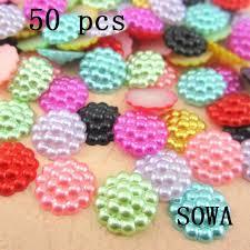 [Visit to Buy] <b>Free Shipping 50Pcs</b>/<b>lot</b> 13mm Imitation Pearls Beads ...
