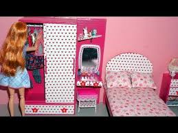 how to make barbie furniture. how to make a wardrobe with dressingvanity table for dolls miniature crafts barbie furniture