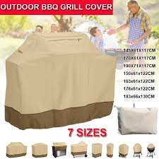 Beige 7 Sizes <b>Outdoor Waterproof BBQ</b> Grill Barbeque Cover Gas ...