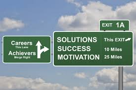 thinking about your career path in it information space marketing business concept