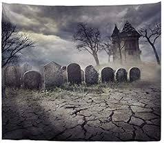 A.Monamour <b>Halloween Theme Gothic</b> Graveyard Tombstone ...