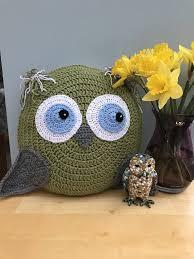 Owl Cushion, Owl Pillow, Crochet Owl Cushion, Crochet Cushion ...