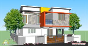 March   Kerala home design and floor plansModern house design   Sq  Ft    Sq  M
