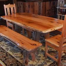 hickory dining table rustic oak dining set oak table chair and bench set