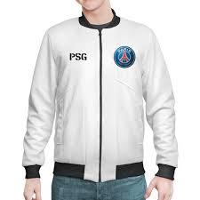 """Бомбер """"<b>Логотип и надпись</b> PSG"""" #2692934 от Василий Арк - <b>Printio</b>"""