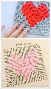 Corazones | Crochet square patterns, Crochet heart pattern, Granny ...