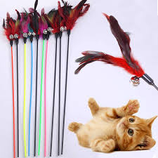 Sale Natural <b>Feather</b> With Small Bell Cat Toys Funny Cat <b>Hot Sale</b> ...