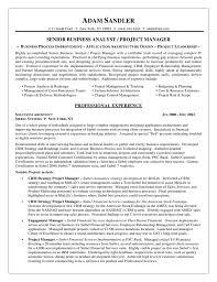 entry level business analyst resume job resume samples