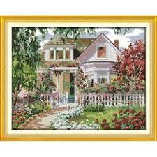 <b>Everlasting love</b> Christmas <b>Garden Villa</b> Ecological cotton Cross ...