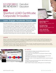 stanford lead certificate corporate innovation by stanford msx stanford lead certificate corporate innovation by stanford msx program issuu