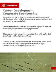 career development employer sponsorships guide game plan the guide
