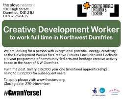 full time creative development worker sought for lincluden and job ad 01