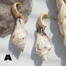 Bellelove <b>Fashion</b> Girls Retro <b>Shell</b> Conch Pendant <b>Earrings</b> ...