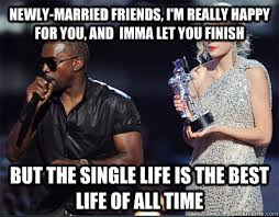 Newly-married friends, I'm really happy for you, and imma let you ... via Relatably.com