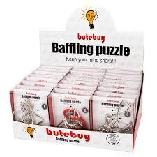 <b>Butebuy Geometric Shapes Metal</b> Wire Puzzles Brain Teaser IQ ...
