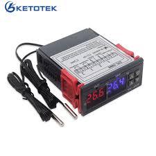 STC 3008 KT99 <b>Dual</b> Digital <b>Temperature Controller Two Relay</b> ...