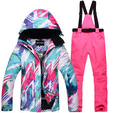 <b>Outdoor Sports</b> Gear Girls <b>Ski Suit</b> Wear Snowboarding suit sets ...