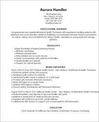 professional behavioral health technician templates to showcase    resume templates  behavioral health technician