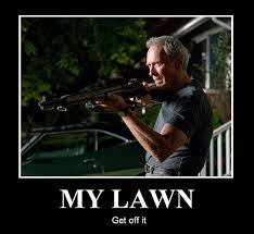 Image result for man with shotgun guarding his lawn
