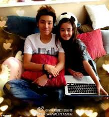 Outrage over Chinese popstar      who is      dating    year old     Relationship  Pop star Zhang Muyi  left       declared his feelings for