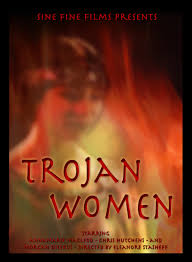 watching a film or reading a summary of the trojan women by main characters and greek equivalents