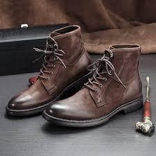 <b>Men's</b> Riding boots <b>Genuine leather men</b> retro short <b>Chelsea</b> boots ...