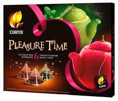 <b>Чай Curtis</b> Pleasure Time <b>ассорти</b> 6 вкусов в пирамидках — купить ...