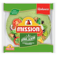 <b>Пшеничные лепешки Mission</b> Шпинат-Базилик - Delicados