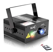 Mini <b>Portable</b> Xmas Laser Light 8 RG Gobo Patterns <b>Auto Sound</b> ...