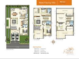 West Facing House Vastu Plan India   Homemini s comFloor Plan Ramky Pearl Residential Independent House Villa West Facing Vastu