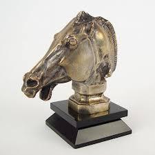 1928 <b>Horses</b> Head Car <b>Mascot</b>, Hood Ornament