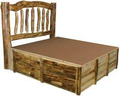 i like the idea of the drawers under the bed for storage rustic bedroom furniture cabin furniture ideas