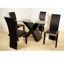 dining black glass top corner