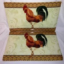 Rooster Chicken Kitchen Decor Kitchen Exclusive Rooster Kitchen Decor In Blue Jug With