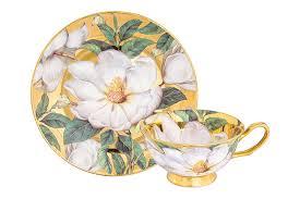 <b>Чайная пара</b> 2 предмета 220 мл <b>Elan</b> Gallery Белый шиповник на ...