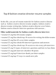 top  fashion creative director resume samplestop  fashion creative director resume samples in this file  you can ref resume materials
