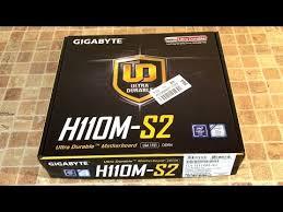 Распаковка и обзор <b>материнской платы Gigabyte GA</b>-<b>H110M</b>-S2 ...