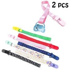 2 Pcs 18 Colors <b>Baby Pacifier Clip</b> Chain <b>Dummy Holder</b> Nipples ...