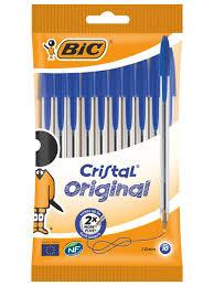 <b>Ручка шариковая BIC</b> Cristal синяя, 10 штук BIC 666143 в ...