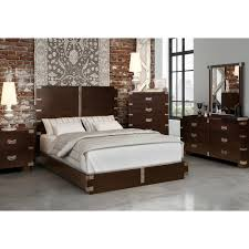 loft bedroom bed dresser mirror queen chocolate 9817hf bedroom furniture photo