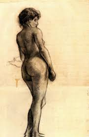 best images about vincent van gogh < amsterdam standing female nude seen from the back 1886 vincent van gogh