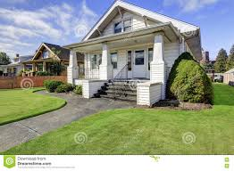 typical american craftsman style house with column porch royalty free stock photo american craftsman style