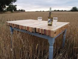 wood slab dining table beautiful:  useful and easy to repurpose old pallet style