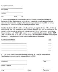letter of intent adventures in homeschooling wa sample letter of intent